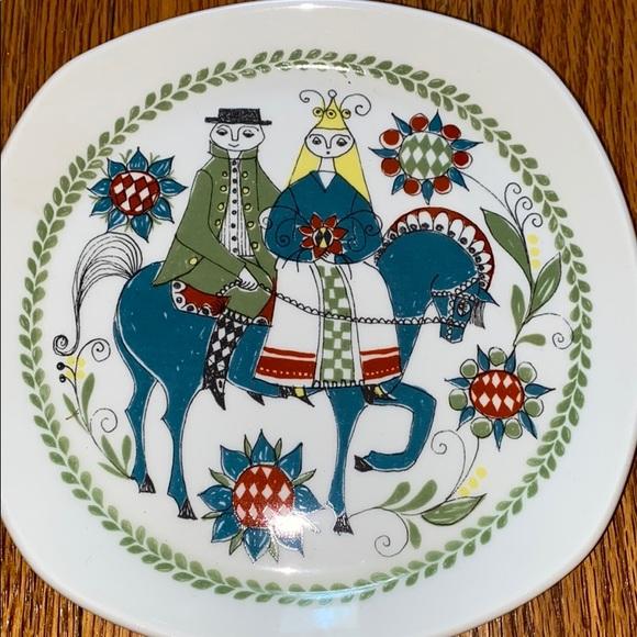 Vintage mid century modern plate